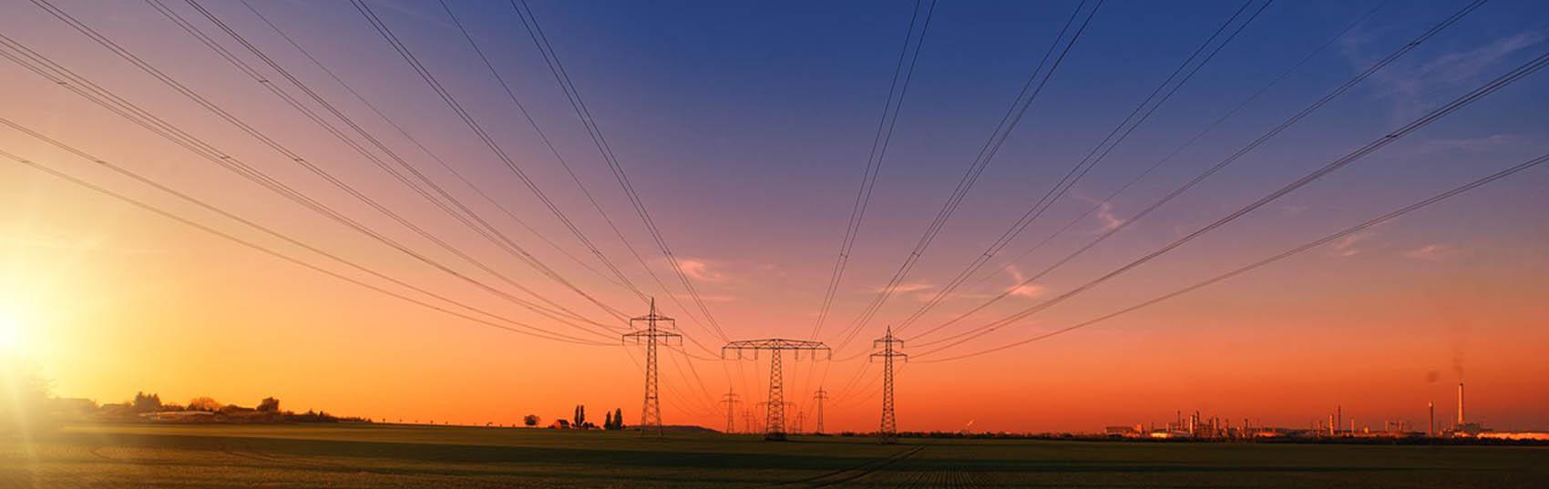 torres e linhas de energia eletrica