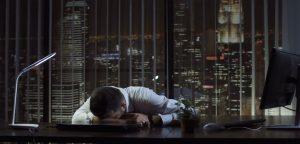 Trabalhador deprimido